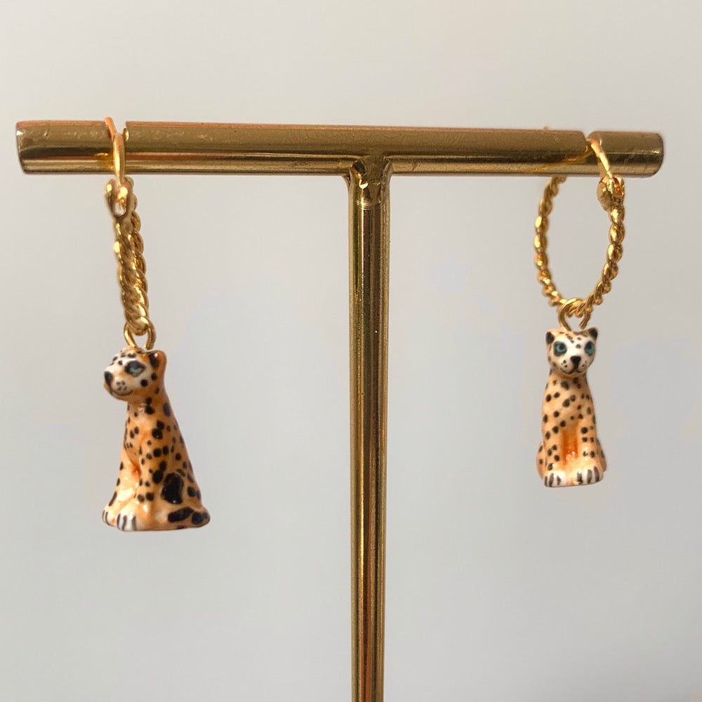 Nach Leopard Small Hoop Earrings