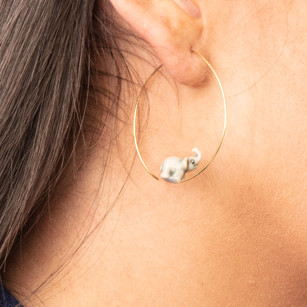 Nach Mini Elephant Earrings