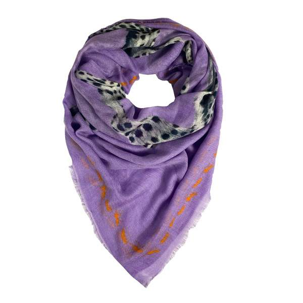 Simone Bruns Scarf - Leopard & Ant in Purple