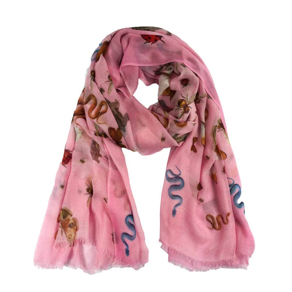 Simone Bruns Scarf - Jungle Dance in Pink