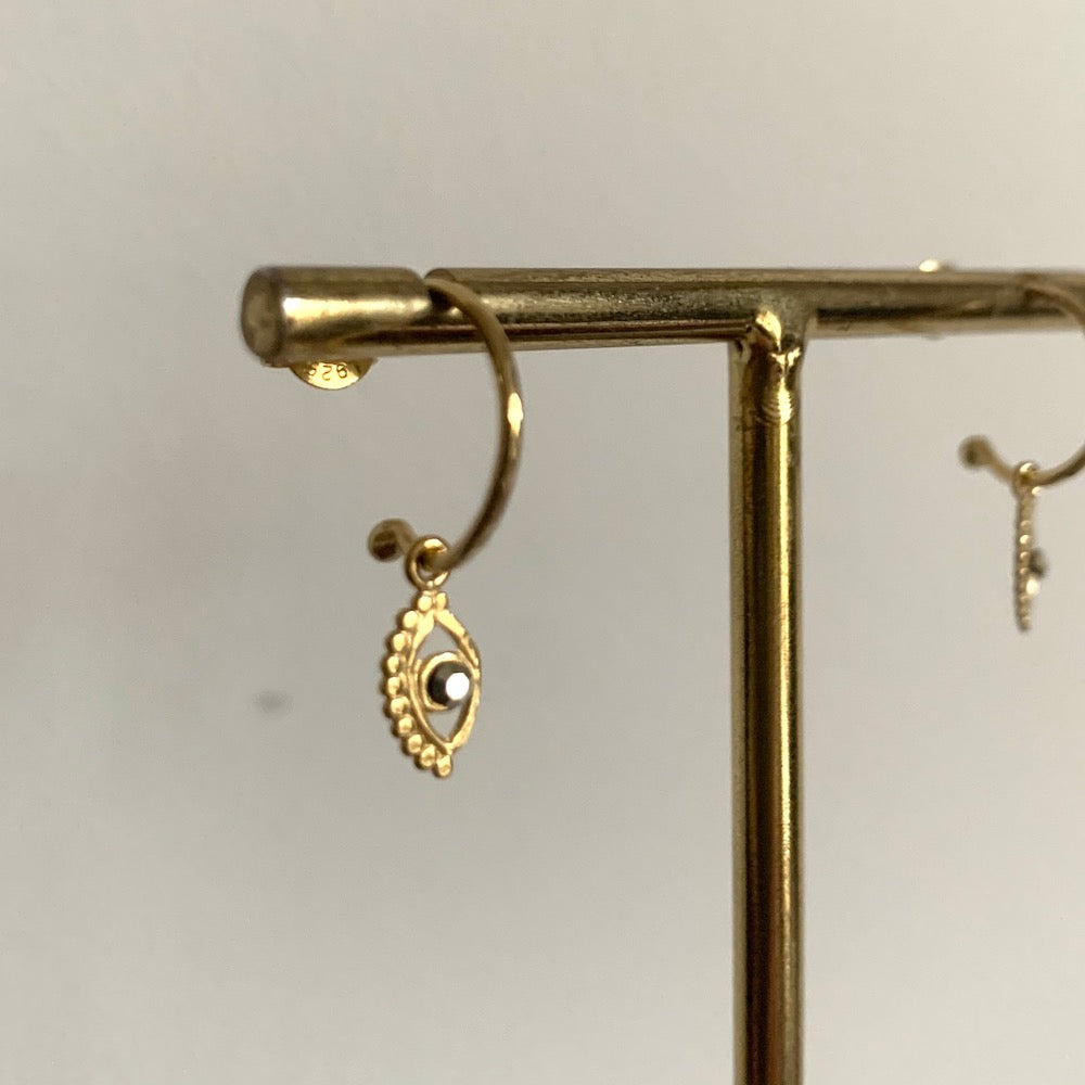 Stalactite Mini Eye Earrings