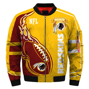 new concept 05c66 254a1 New season 2019 Washington Redskins Coat Thick Bomber Jacket men gift for  fan NFL