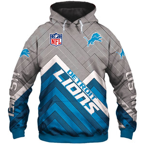 new styles 84206 f09a5 Detroit Lions Hoodie 3D Football Sweatshirt Pullover NFL gift for fans