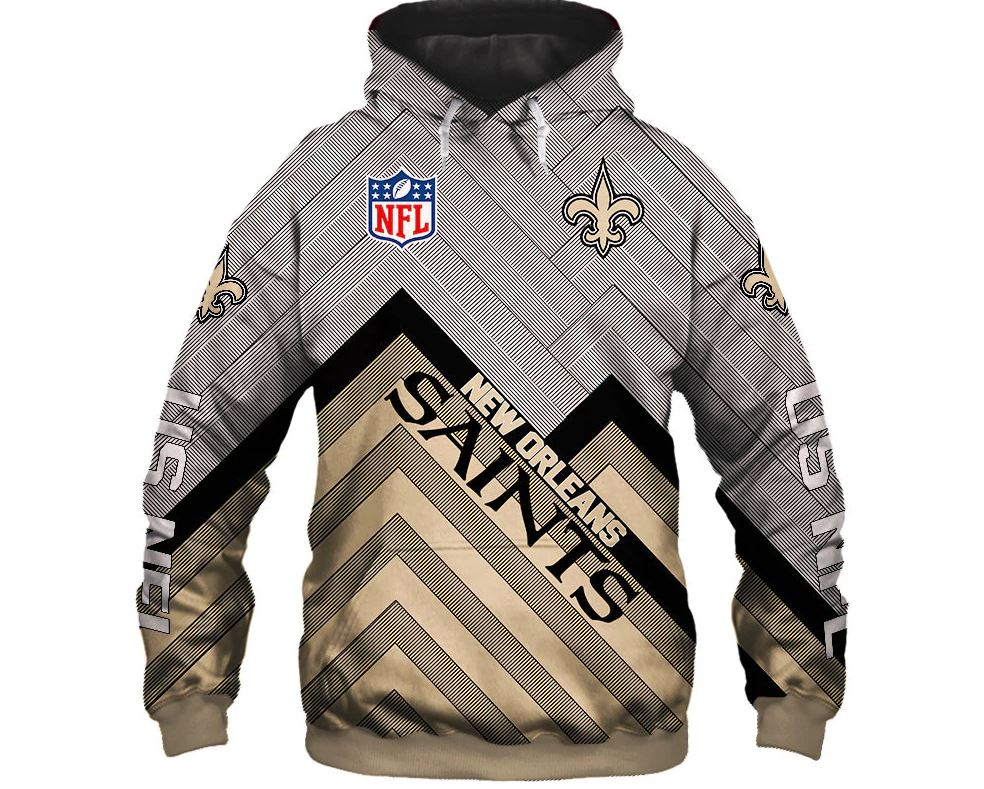 size 40 15c00 fed0f 2019 New Orleans Saints Hoodie 3D Football Sweatshirt Pullover NFL gift for  fans