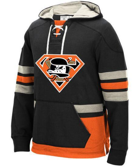 huge discount 699f6 0e87b 2019 Anaheim Ducks All Stitched Customized Jersey Pullover Hoodie for men