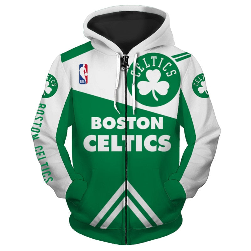 huge selection of 6c192 c69dc Boston Celtics Hoodie 3D basketball Sweatshirt Pullover NBA