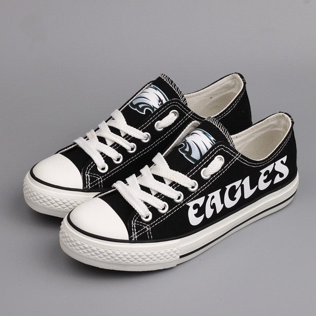 f5f28ca4 Low Top Canvas Shoes Philadelphia Eagles Team Fans Casual Shoes for women