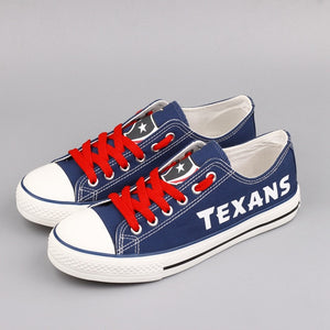 separation shoes eca78 98fbe Low Top Canvas Shoes Houston Texans Team Fans Casual Shoes for women