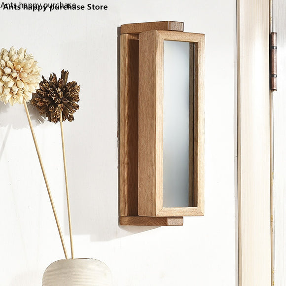 Rotating Oak Key Rack / Mirror
