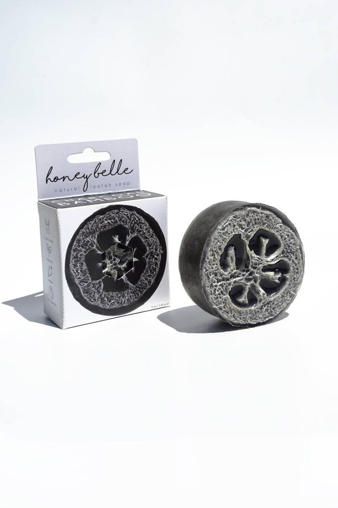 Loofah Soap - Charcoal Bamboo | Exfoliating Loofah Body Soap