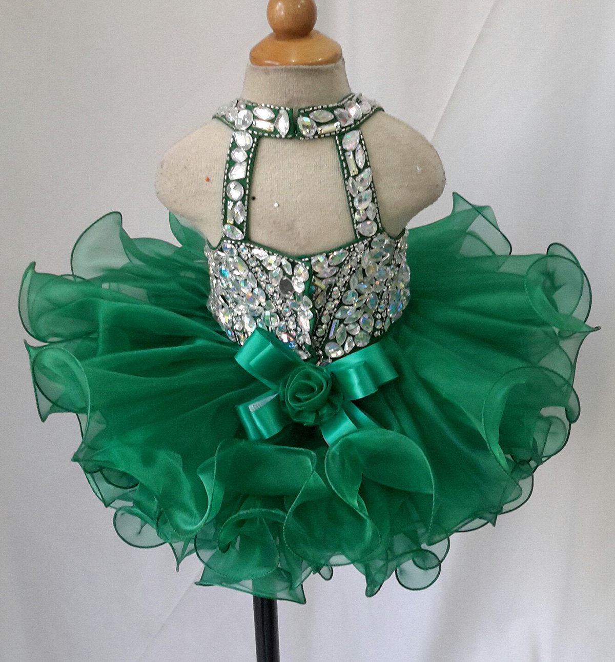 Infant//toddler//baby Halter Pageant DressG215 available from 6-9months to size 5T