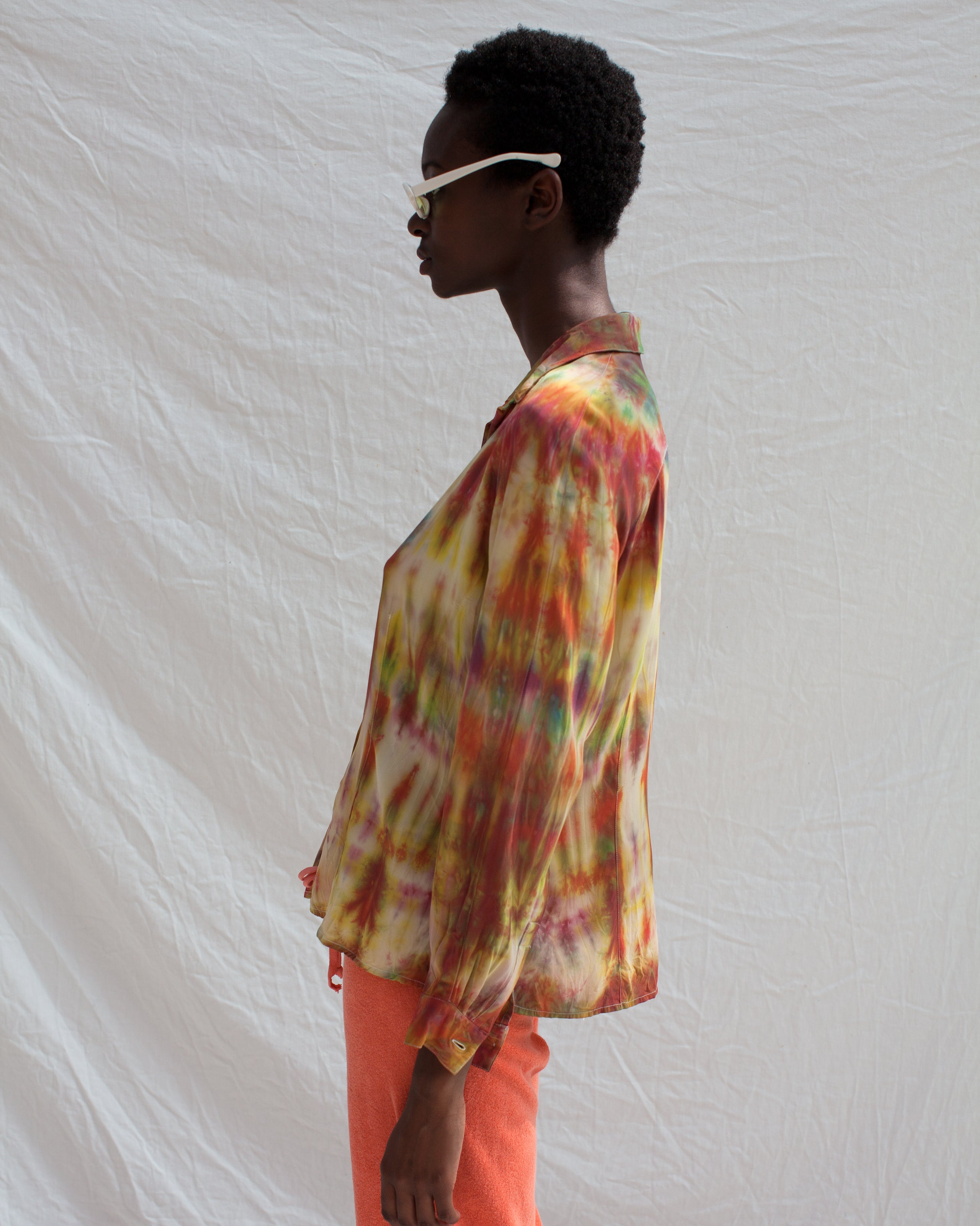 Acid Sunset Button Up
