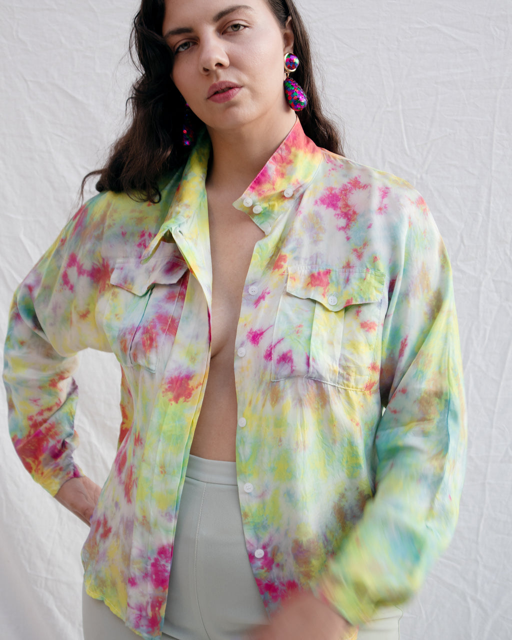 80s Button Up Blouse