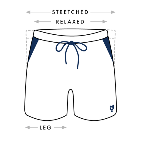 Randy Cow Swim Shorts Size Guide