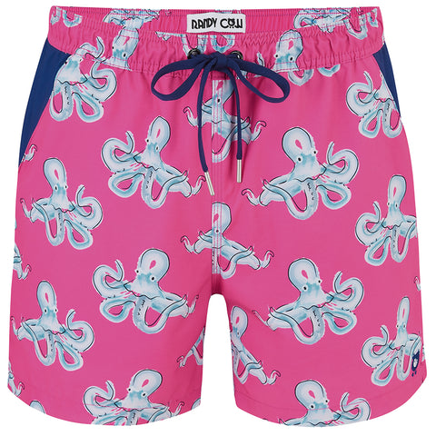 Octopus Swim Shorts Waterproof Pocket
