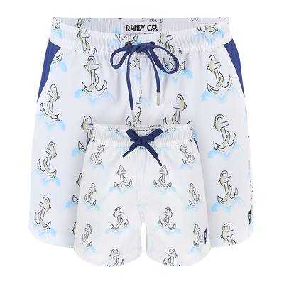 Anchors  Father & Son Swim Shorts