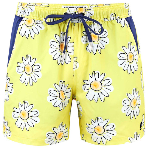Daisies - Swim Shorts with Waterproof Pocket