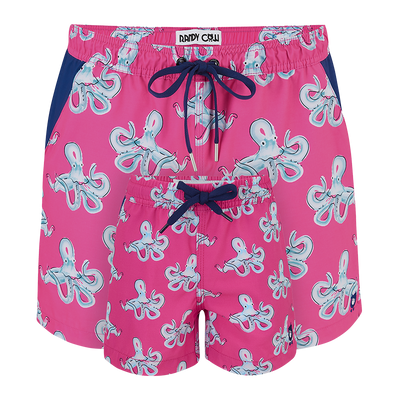 Octopuses  Father & Son Swim Shorts