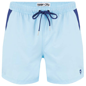 Baby Blue - Swim Shorts with Waterproof Pocket