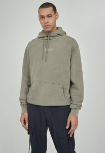 Mennace Washed Green Hoodie