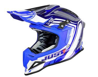 Just1 J12 Flame Helm Blauw Mx Helmen