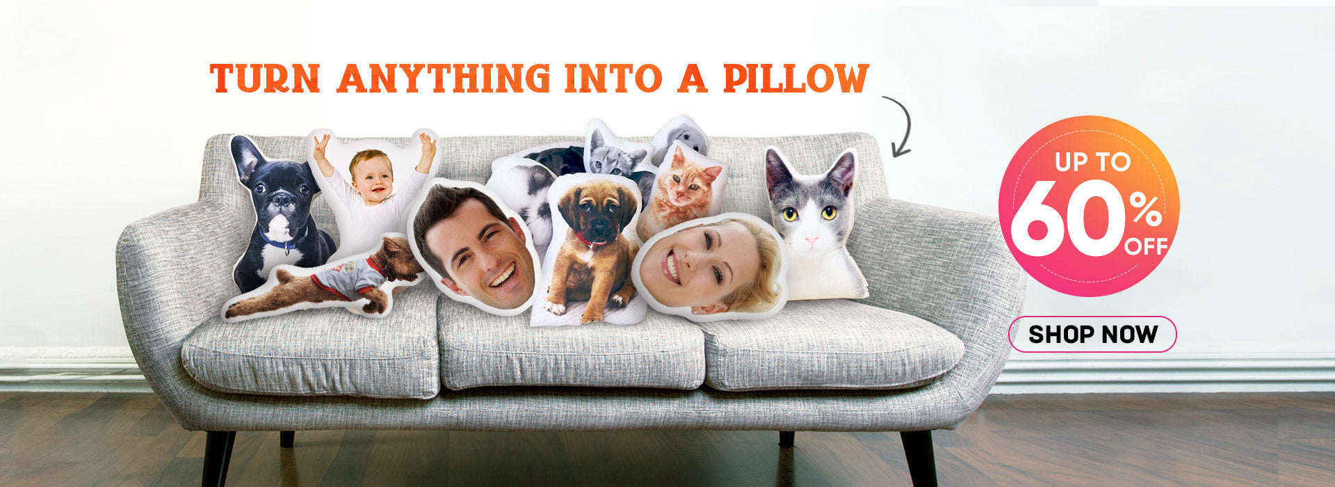 3D Portrait Custom Pet Pillow | Face Pillow prettybuyers.com pet cushion christmas gift gifts f