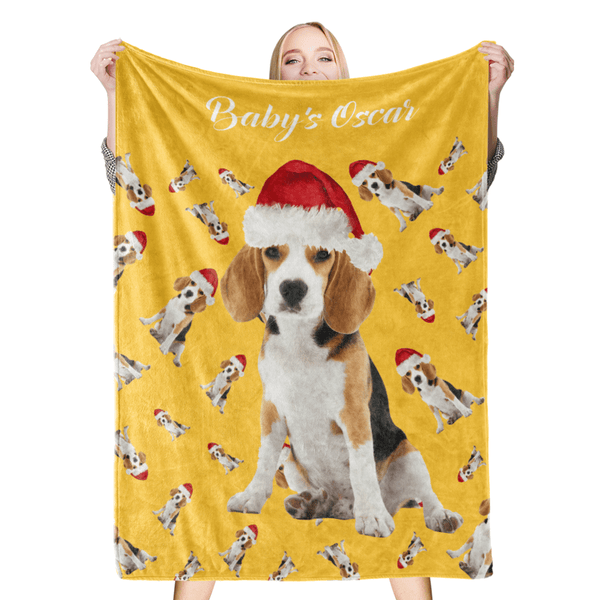 Custom Dog Blankets Personalized Pet Photo Blanket Christmas Dog Blanket Pet Gift
