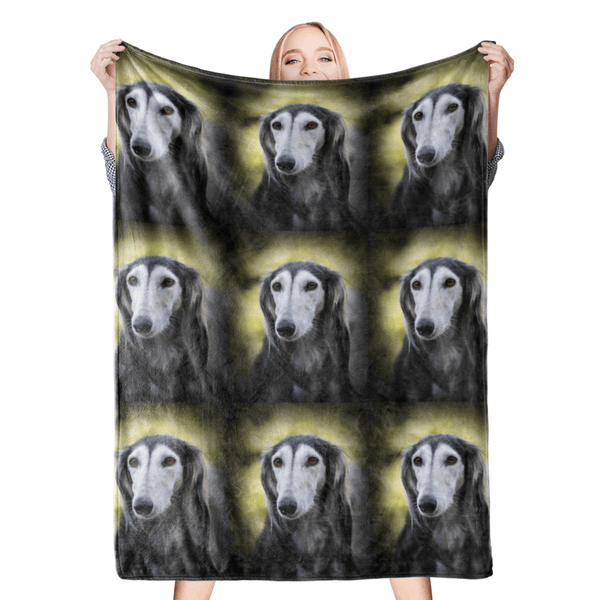 Custom Dog Blankets Personalized Pet Blankets Face Photo Blanket