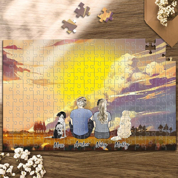 Personalized Photo Puzzles Custom Jigsaw Puzzle For Family and Pets