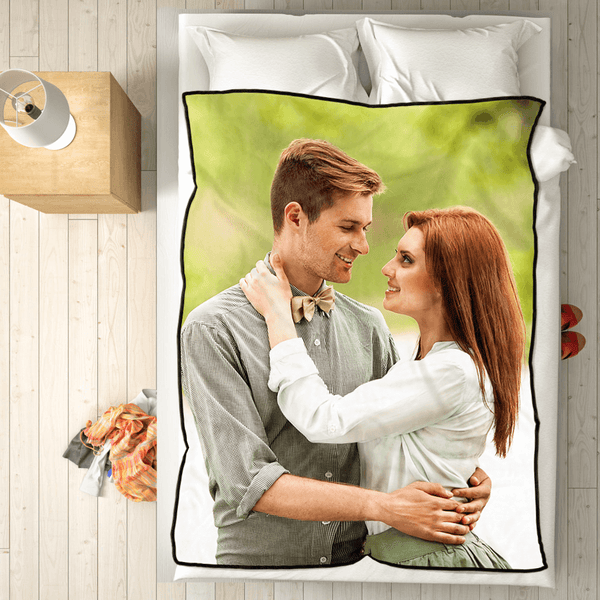 Personalized Love Photo Fleece Blanket