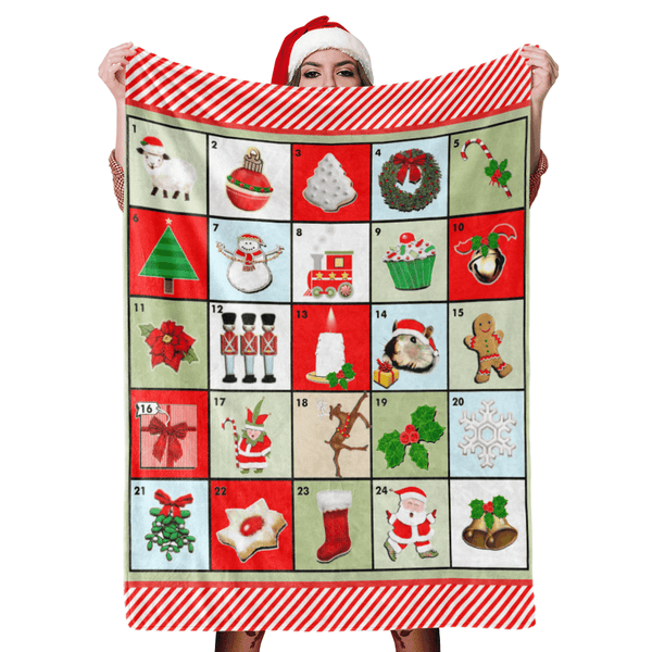 Christmas Blanket Gift Merry Christmas Blanket Happy Holiday Fleece Blanket