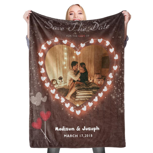 Personalized Custom Blanket Valentine's Blanket Fleece Blanket For The Love
