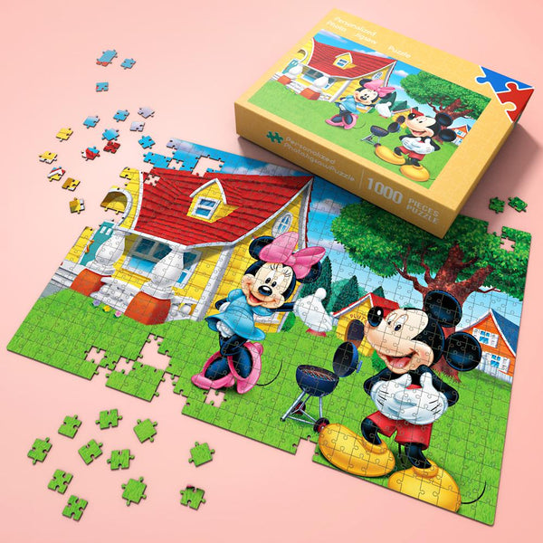 Jigsaw Puzzle Disney Funny Story-Minnie & Mickey 1000 Pieces Max