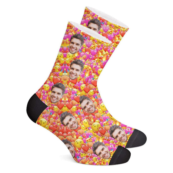 Custom Emoji Socks - Getphotoblanket