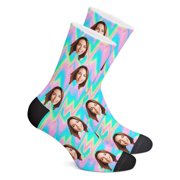 Trippy Style Custom Face Socks - Getphotoblanket