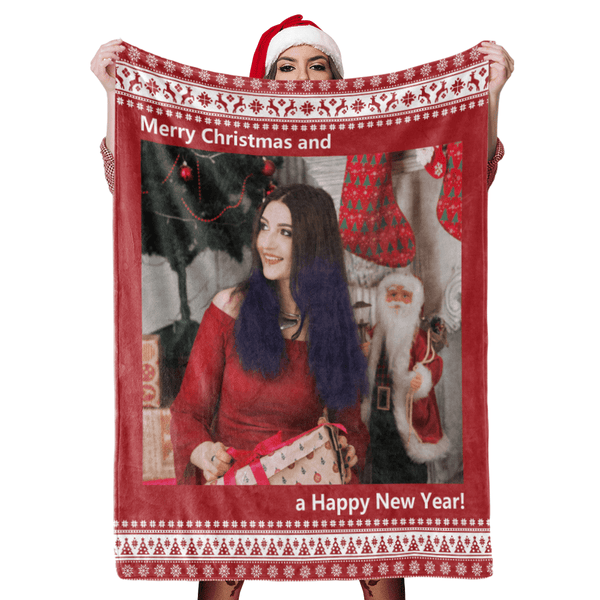 Christmas Blanket Gift Custom Blankets Personalized Photo Blankets