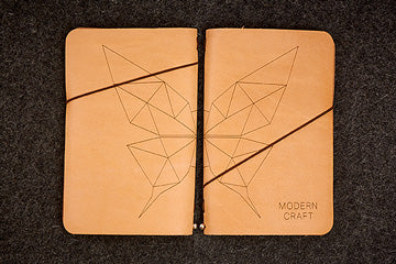 Modern Craft custom engraved leather Slim Notebook
