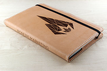 personalized leather notebooks for bonfire marketing