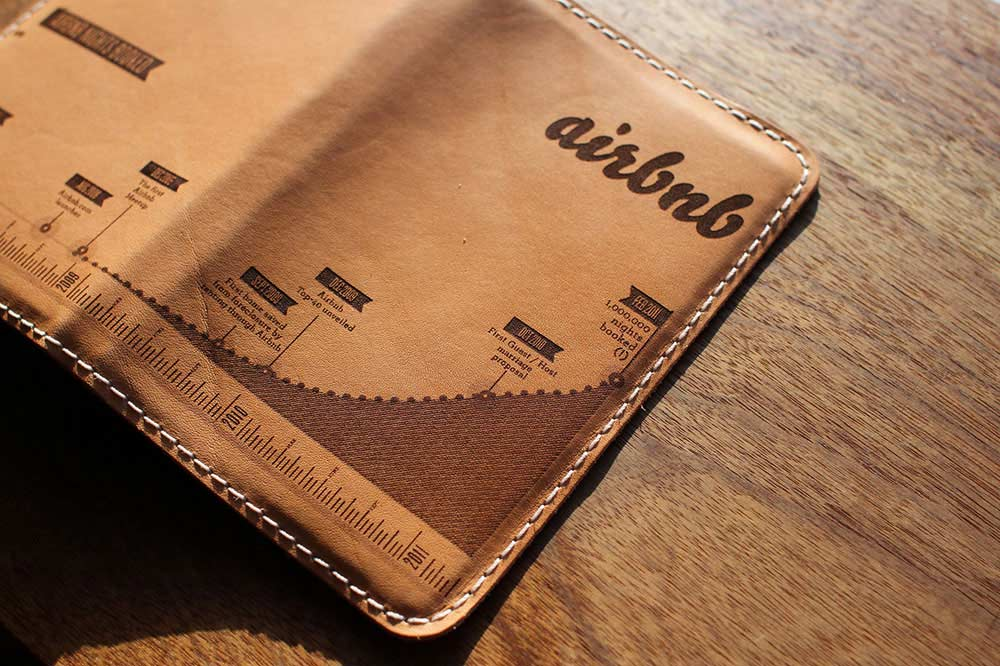 custom branded leather notebook