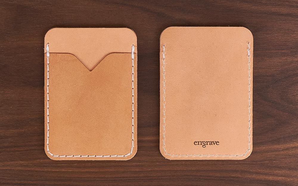 leather card wallet detail