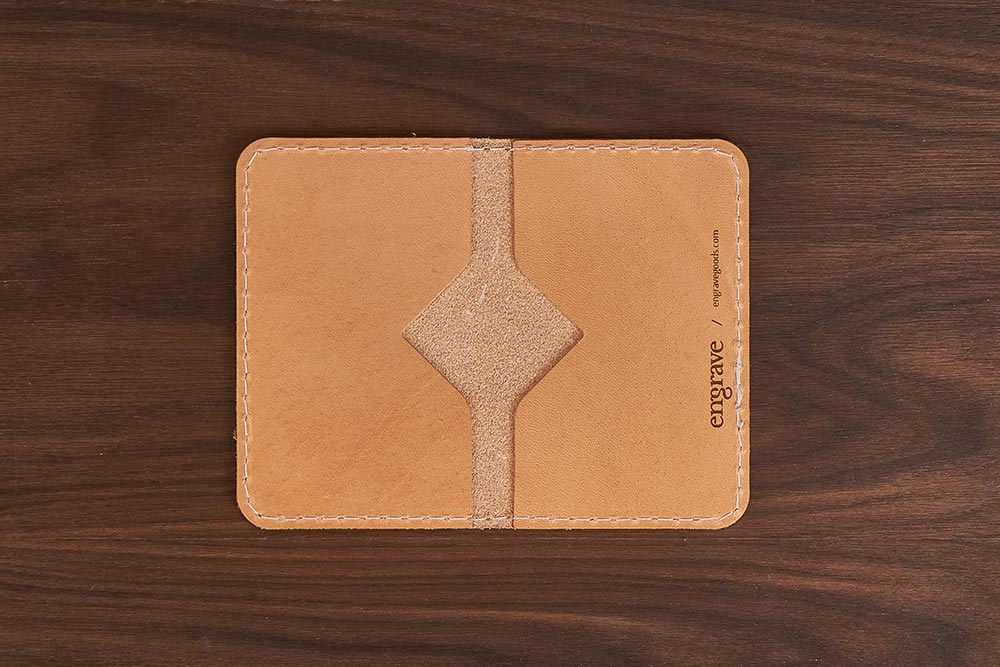 leather minimal wallet inside