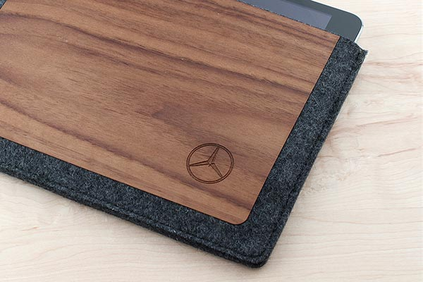 wool and wood ipad sleeve