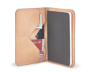 leather travel wallet for fieldnotes notebook