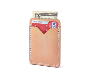 leather card wallet for cash and credit cards