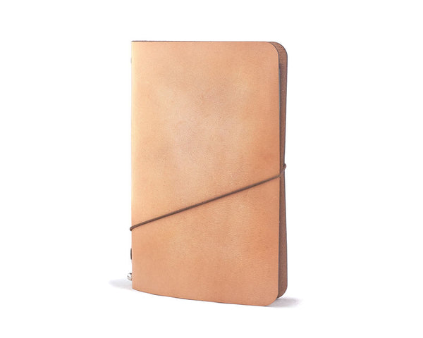 leather notebook cover for fieldnotes and moleskine caheir