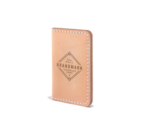 leather minimal wallet made in usa