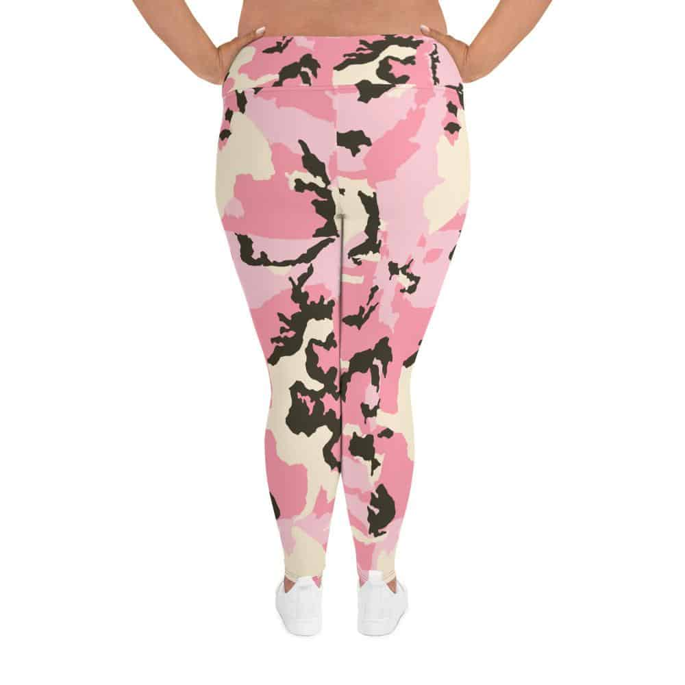 Pink Camouflage Plus Size Leggings