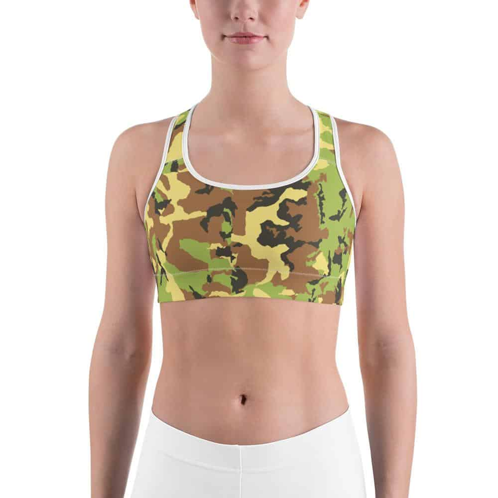 Camouflage Sports bra - Rosemary's Fitness Store