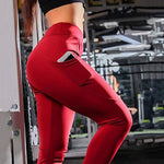Pocket high waist slim leggings | elastic pants | fitness pants | slim leggings