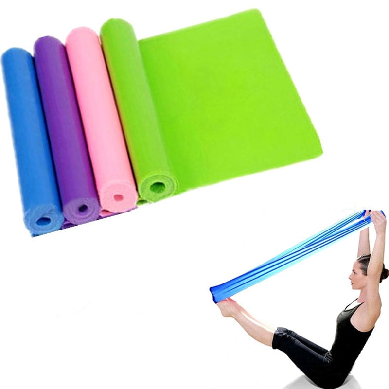 Pilates Yoga Workout Aerobics Stretch Band Tensile Band Elastic Waist Arms Leg Stretch Strap Pilates Belt te30